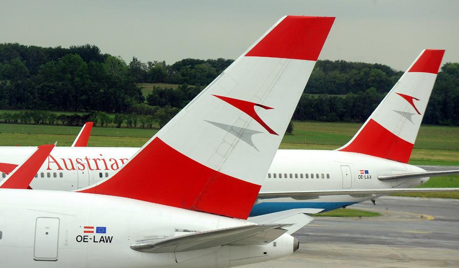 Flugzeuge der Austrian Airlines in Wien Schwechat. (Symbolfoto)