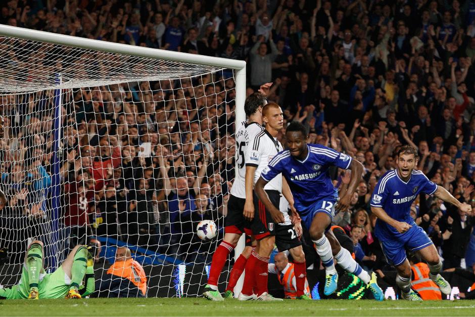 John Obi Mikel erzielte sein erstes Premier-League-Tor für Chelsea seit seinem Wechsel im Jahr 2006.