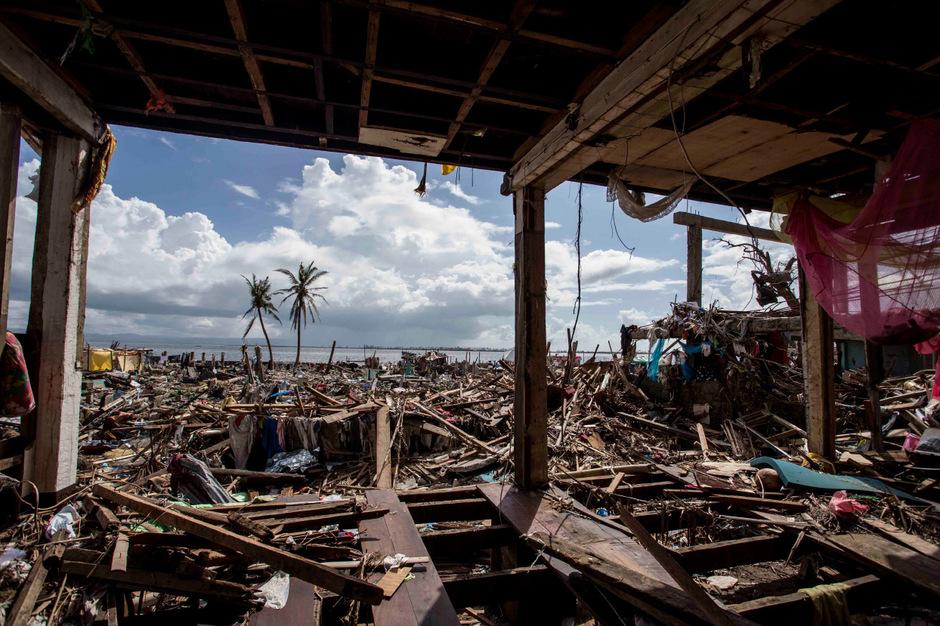 Ein Bild der Zerstörung in Tacloban, der Hauptstadt der Provinz Leyte.