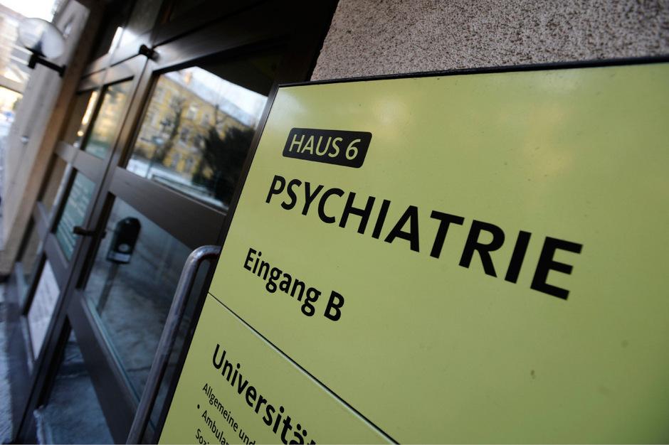 Eingang der Psychiatrie in Innsbruck (Archivbild).