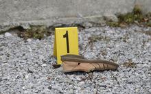 Der Schuh des Schwerverletzten.