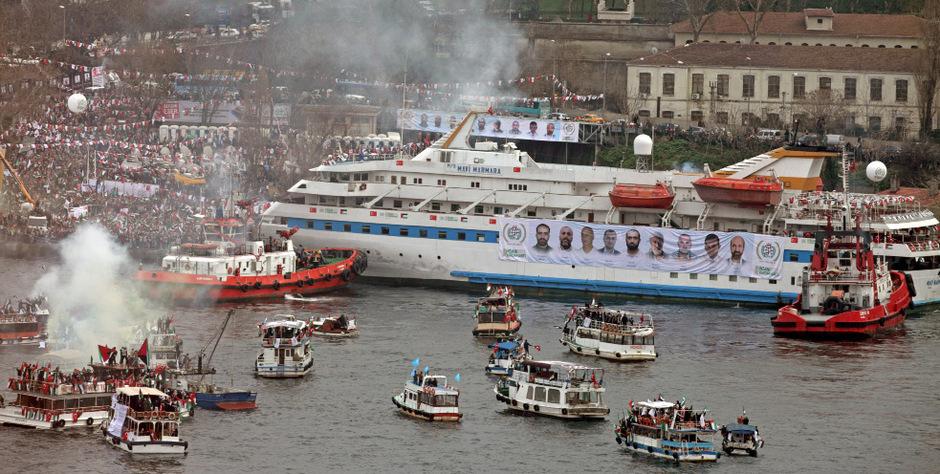 """Die Attacke auf das Gaza-Hilfsschiff """"Mavi Marmara"""" hatte eine diplomatische Krise zwischen Israel und der Türkei ausgelöst."""