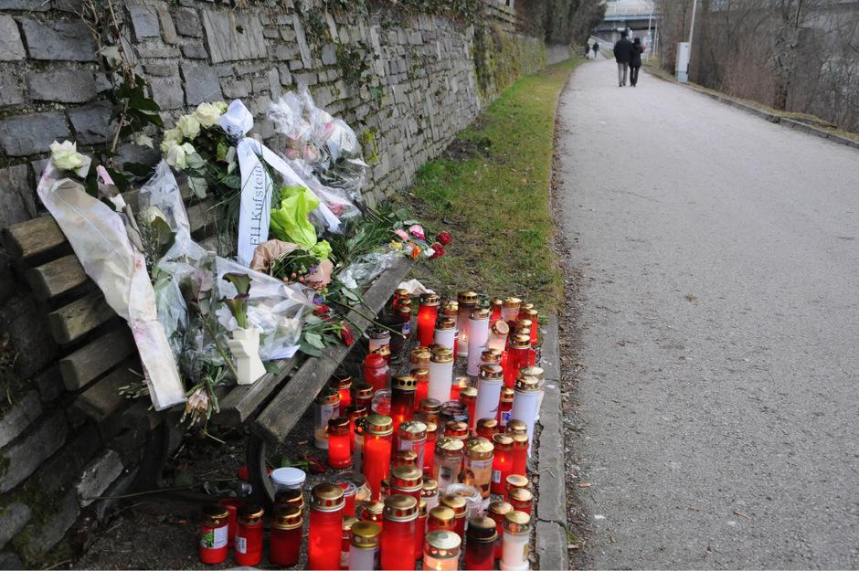 Die Stelle, an der Lucile K. in der Nacht zum 12. Jänner 2014 ermordet wurde.