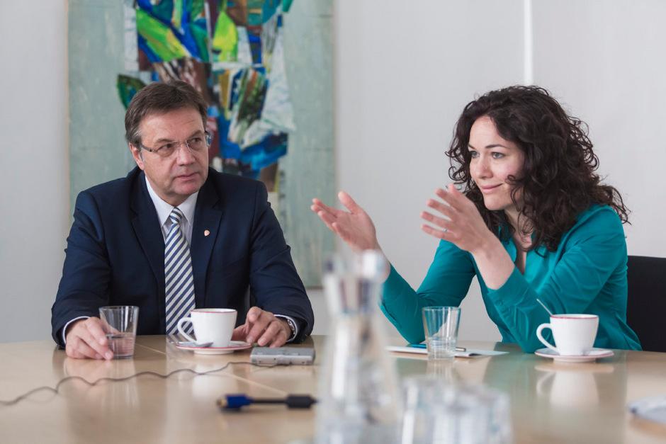 LH Günther Platter (VP) und LHStvin. Ingrid Felipe (Grüne).