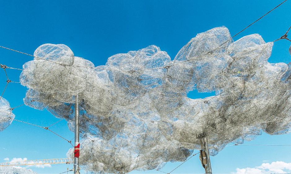 Die mit 600.000 Kristallen ausgestattete Kristallwolke.