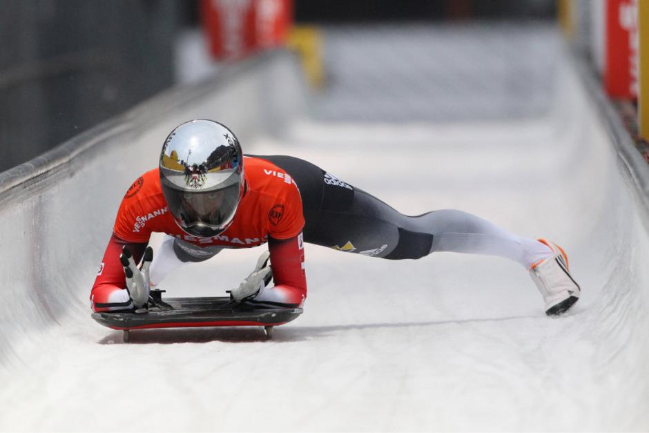 Janine Flock raste zu ihrem ersten Weltcup-Sieg.