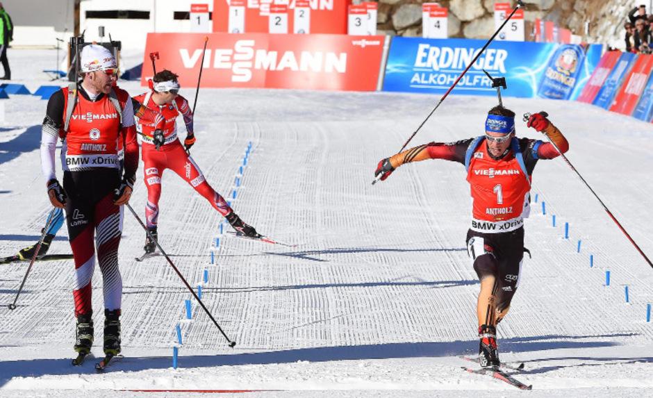 Foto-Finish: Simon Eder (l.) hatte gegen Schempp knapp das Nachsehen.