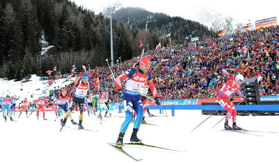 Den Biathlon-Fans wurde in Antholz wieder ein spannendes Staffel-Finale geboten.