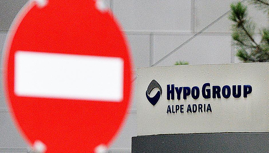 Das Logo der  Hypo Alpe-Adria Bank in Klagenfurt.