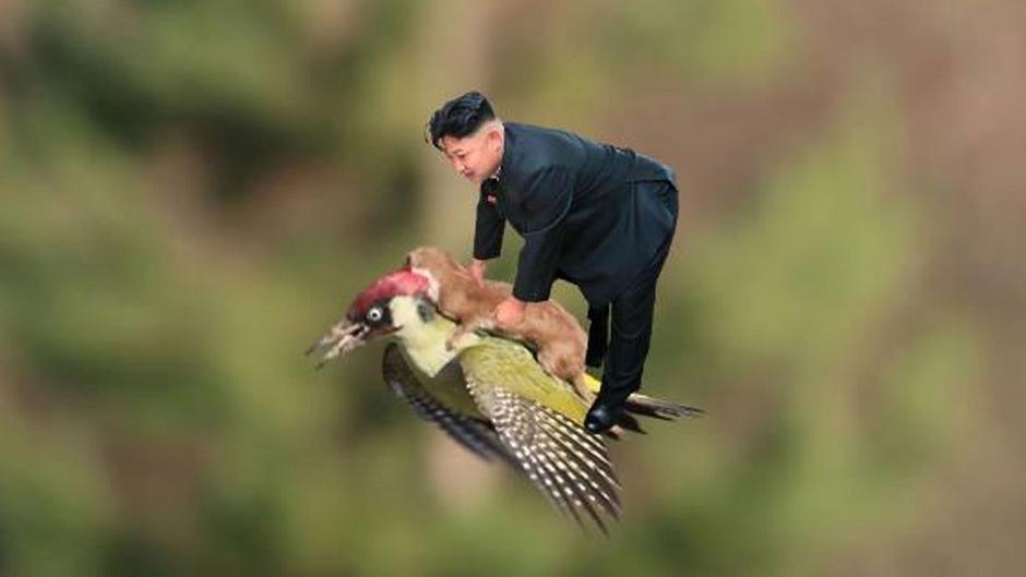Kim Jong-un ist auf den neuen Memes durchaus sportlich unterwegs.