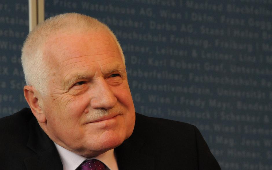 Ex-Präsident Vaclav Klaus am Freitag am Management Center Innsbruck.
