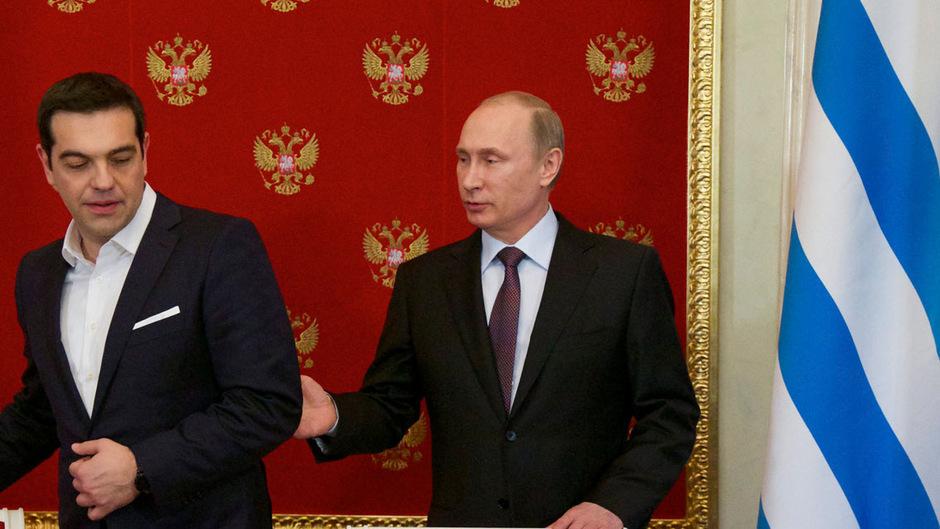 Griechenlands Premier Alexis Tsipras hat mit Kremlchef Wladimir Putin in Moskau eine engere Zusammenarbeit vereinbart.