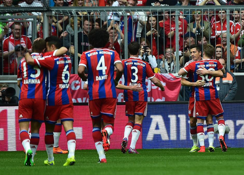 Die Bayern waren auch gegen Frankfurt nicht zu stoppen.