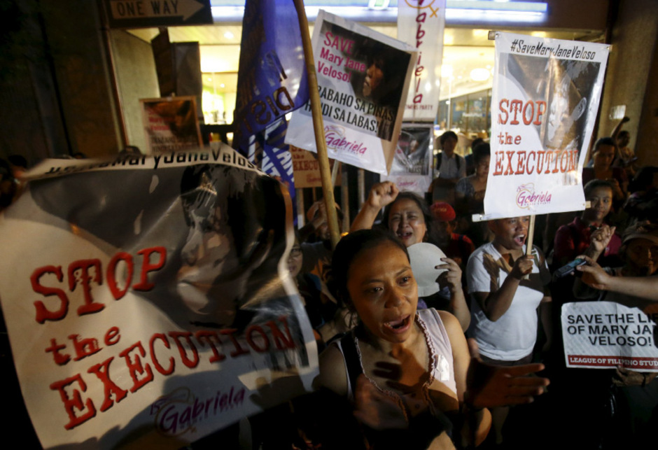 Aktivisten in Indonesien protestierten vor dem Präsidentenpalast in Jakarta.