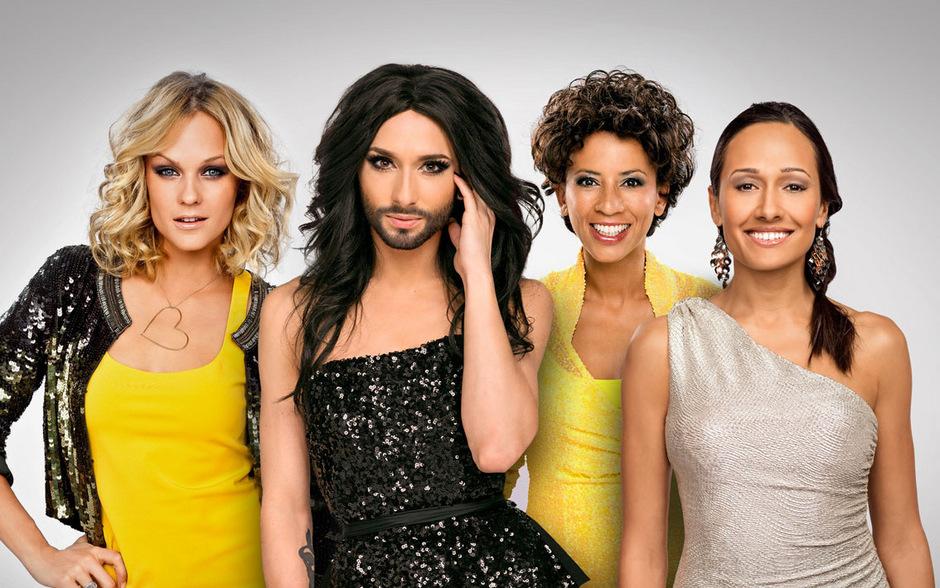 Mirjam Weichselbraun, Alice Tumler und Arabella Kiesbauer werden die größte Fernseh-Unterhaltungsshow der Welt moderieren. Conchita Wurst wird auftreten und die Moderation im Green Room übernehmen.