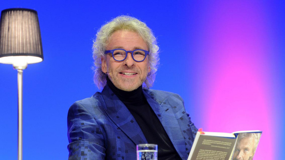 """Anfang Mai las Thomas Gottschalk aus seiner Autobiografie """"Herbstblond"""" in München."""