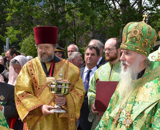 Orthodoxe Würdenträger zelebrierten die Messe.