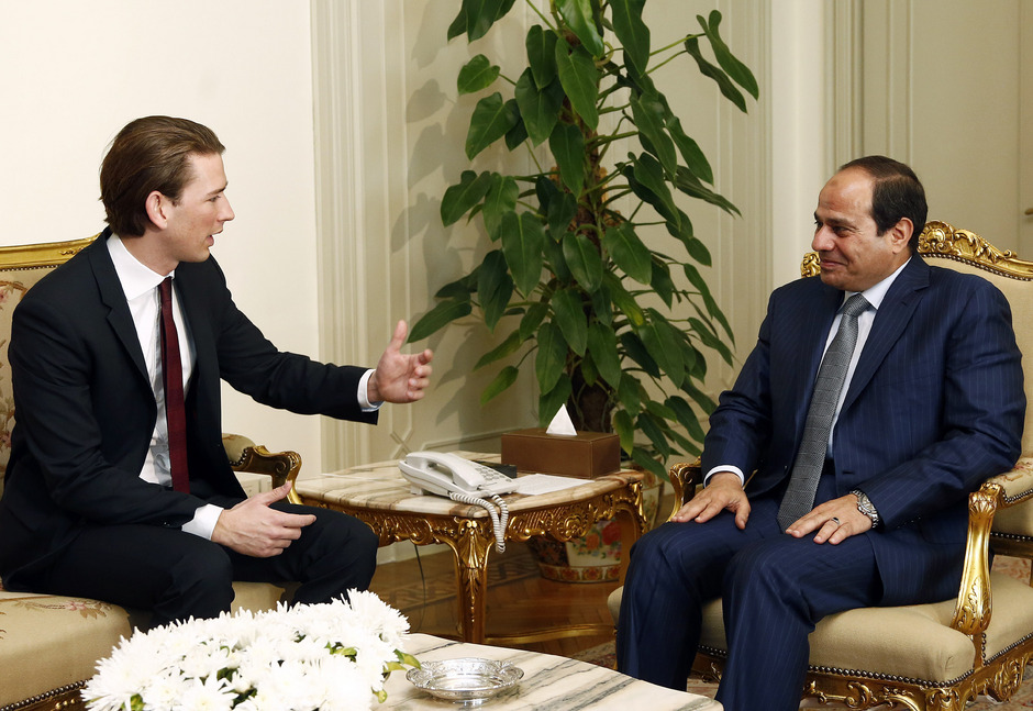Außenminister Sebastian Kurz mit Ägyptens Staatschef Abdel Fattah al-Sisi.