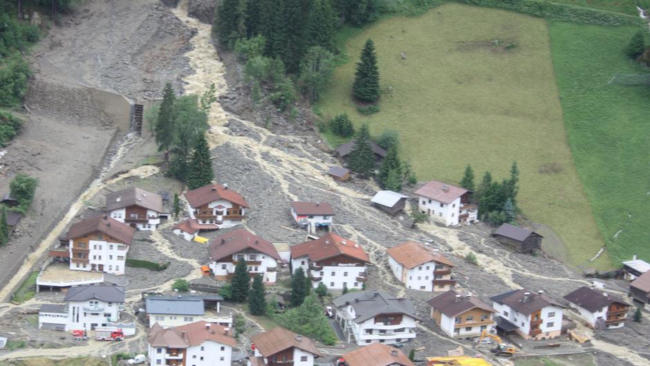 Muren und Überschwemmungen: Die Gemeinde See im Paznauntal wurde im Juni stark in Mitleidenschaft gezogen.