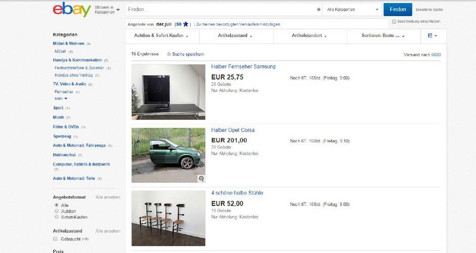 Kuriose Ebay Auktion Nutzer Zeigt Bilder Von Zersagten Besitztumern