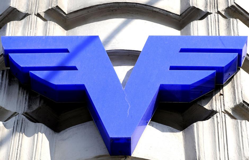 Das Logo der Volksbanken AG.