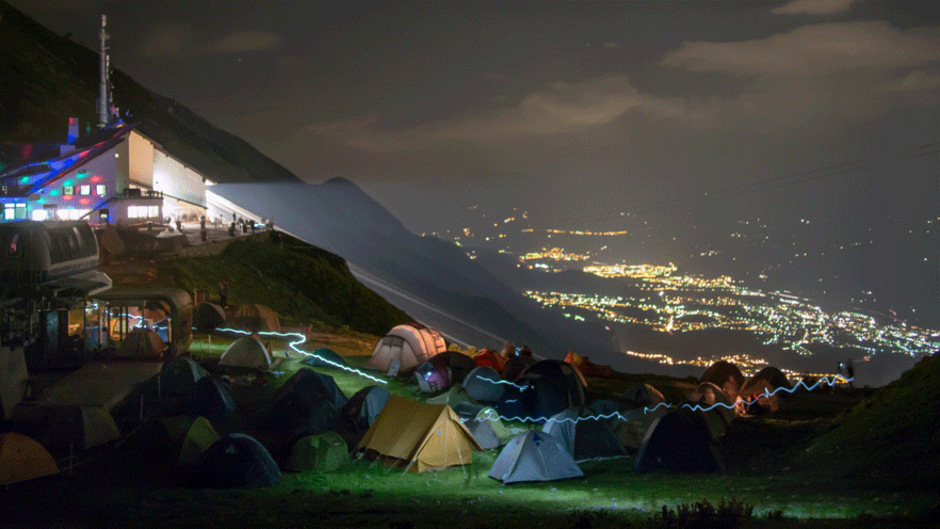 """Das """"Nordkette Wetterleuchten"""" auf der Seegrube ist das höchstgelegene Festival Europas."""