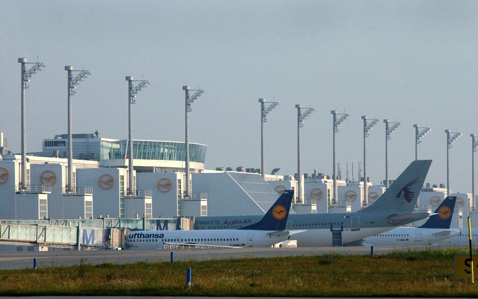 Blick auf den Flughafen in München.