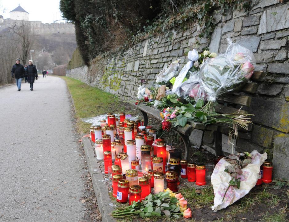 Tatort Innpromenade: An dieser Stelle wurde am 11. Jänner 2014 die Studentin Lucile K. mit einem Eisenrohr erschlagen.