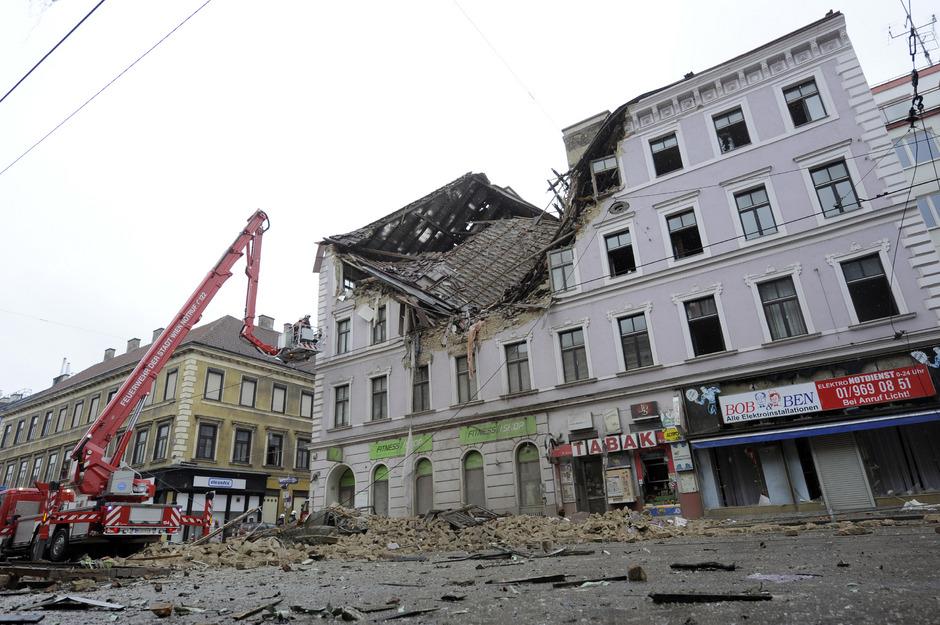 Bei der  Explosion in der Mariahilfer Straße in Wien starb eine 23-Jährige.