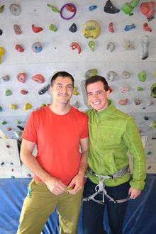 Manuel Mascher und Clemens Tschurtschenthaler (v.l.) machten die Kletteraktion zu einem außergewöhnlichen Erlebnis.