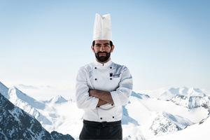 David Kostner kocht auf 2900 Metern Seehöhe.