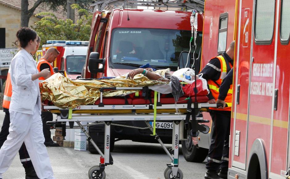 Unfall Frankreich Bus