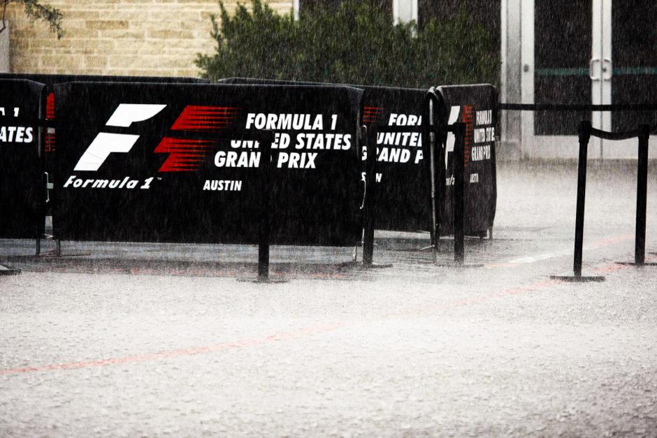 Regen ohne Ende in Austin.