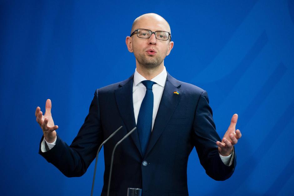 Ukraines Ministerpräsident Arseni Jazenjuk in Berlin.