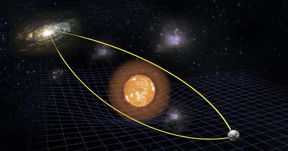 Die Allgemeine Relativitätstheorie besagt unter anderem, dass Raum und Zeit keine Konstanten sind, wie wir Menschen sie auf der Erde wahrnehmen.