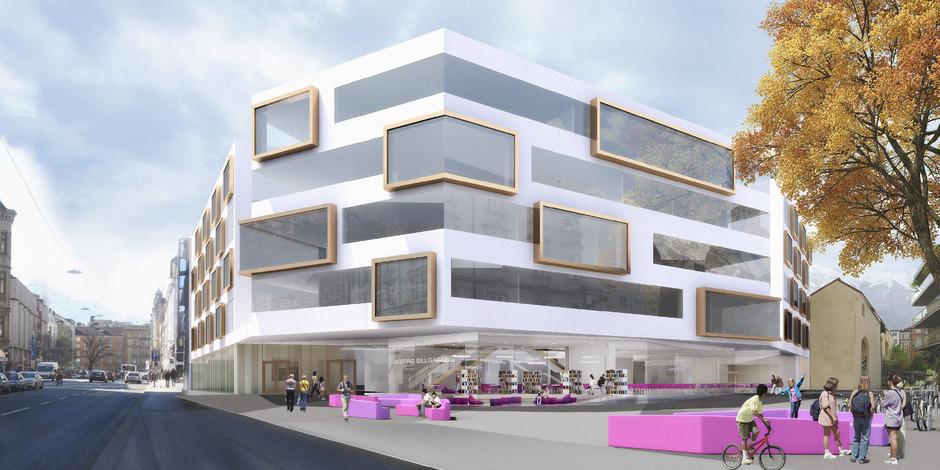 So soll sich das neue Sillgassen-Gymnasium ab 2019 präsentieren.