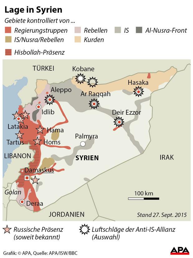 Die folgende Karte zeigt den Stand der kontrollierten Gebiete von Mitte September.