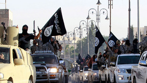 Anhänger der sunnitischen Terrorgruppe  IS (Daesh).