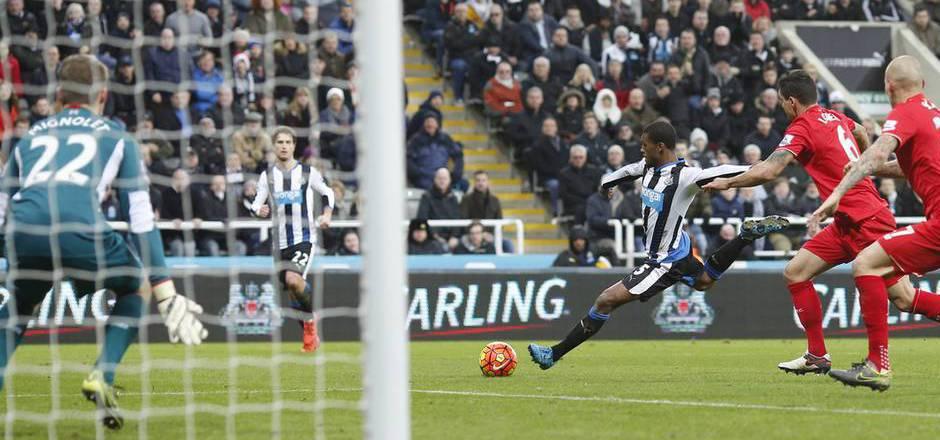 Georginio Wijnaldum schoss Newcastle United gegen LIverpool zum Sieg.