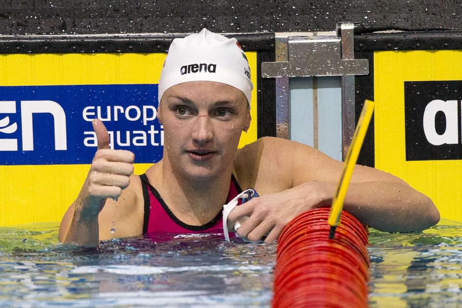 Die Ungarin Katinka Hosszu eroberte bei der Kurzbahn-EM in Netanya sechs Mal Gold und ein Mal Silber.