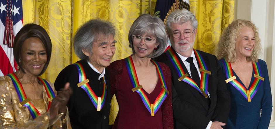 Die Preisträger (v.l.): Cicely Tyson, Seiji Ozawa, Rita Moreno, George Lucas und Carole King.