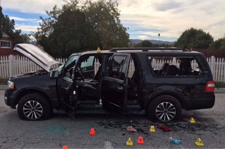 Der Wagen der Attentäter von San Bernardino: Bei einem Schusswechsel mit der Polizei wurde das Ehepaar getötet.