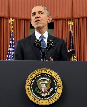 Obama bleibt seiner Linie treu, wofür er besonder von der politischen Konkurrenz kritisiert wird.