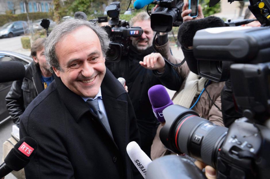 UEFA-Präsident Michel Platini gibt sich siegessicher.