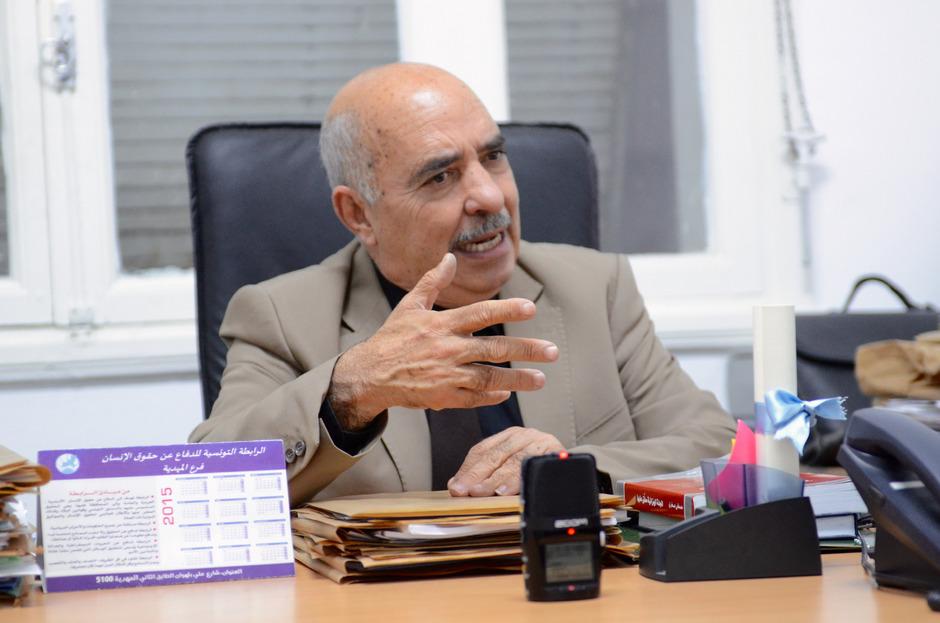 Abdessatar Ben Mussa, Präsident der tunesischen Liga für Menschenrechte, nimmt morgen den Friedensnobelpreis entgegen.