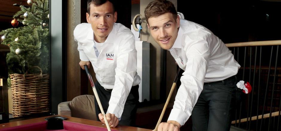 Der Stubaier Stefan Denifl (l.) und sein Vorarlberger IAM-Teamkollege Matthias Brändle wollen heuer keine ruhige Kugel schieben.