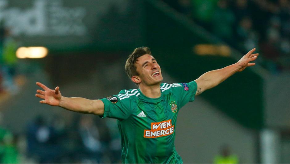 Matej Jelic, im Sommer für der abgewanderten Robert Beric ins Team geholt, konnte endlich in der Europa League jubeln.