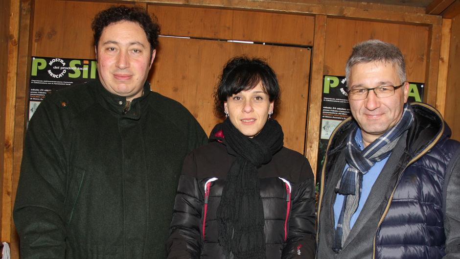 Bürgermeister Andrea Cecchellero (l.) und seine Assistentin Micaela Cervo. Als Dolmetscher agierte Bürgermeiste Dietmar Wallner (r.).
