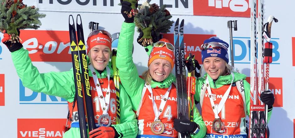. Franziska Hildebrand holte vor Maren Hammerschmidt und Miriam Gössner ihren ersten Einzelerfolg.