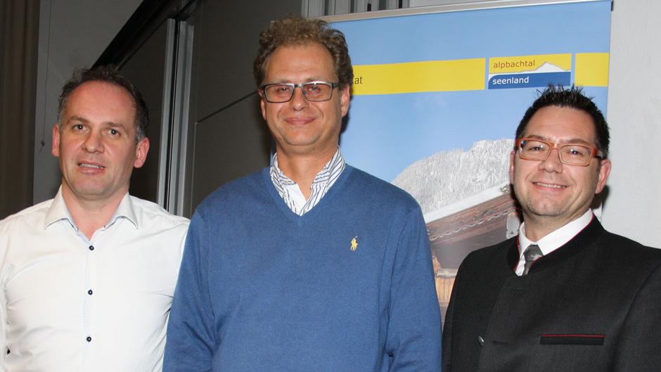 Sie zogen Bilanz: Aufsichtsratsvorsitzender Frank Kostner, Obmann Johannes Duftner und Geschäftsführer Markus Kofler (v.l.).
